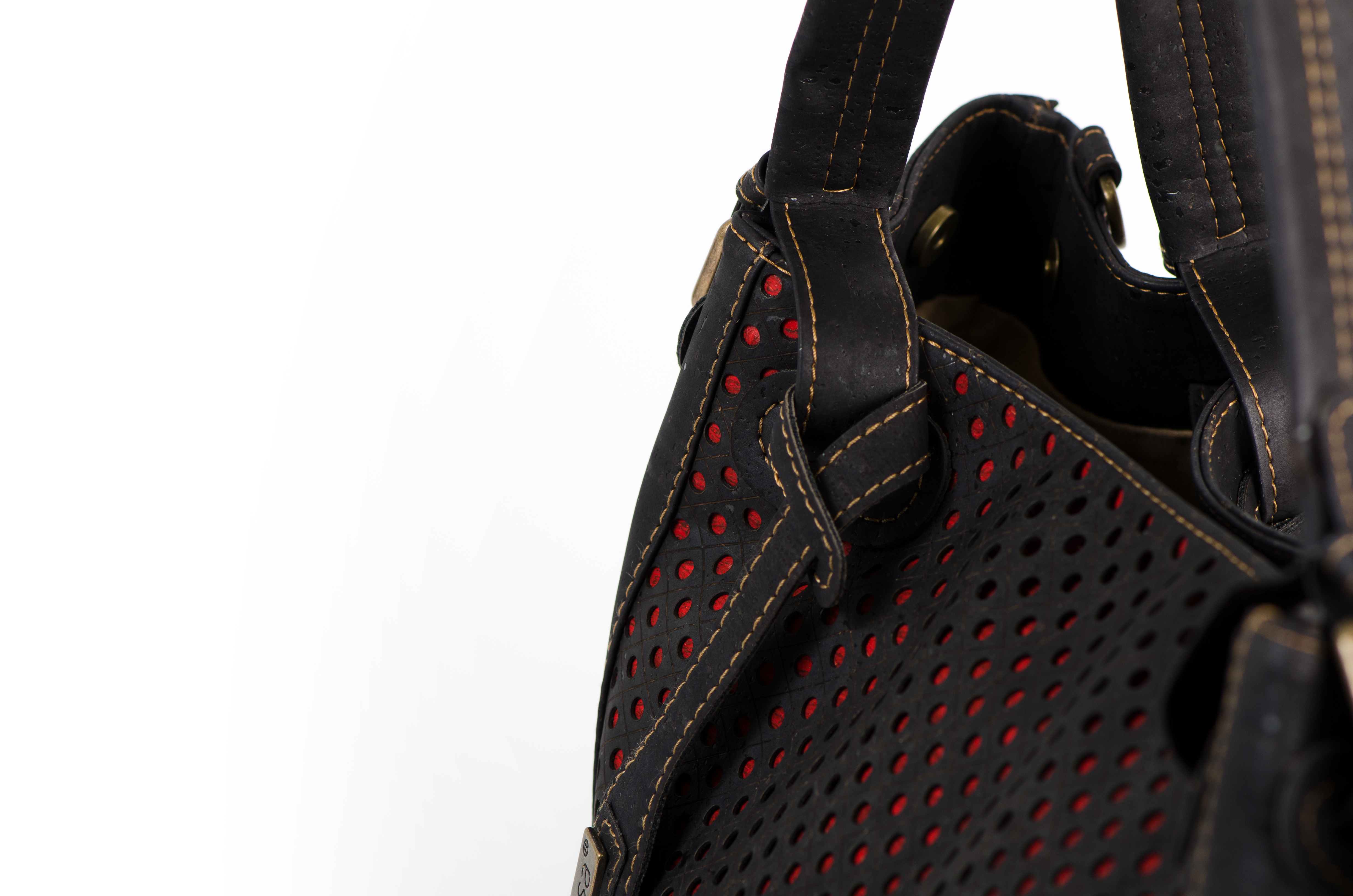 Korktasche, Kork Tasche City Bag, Black \ Red, editorial