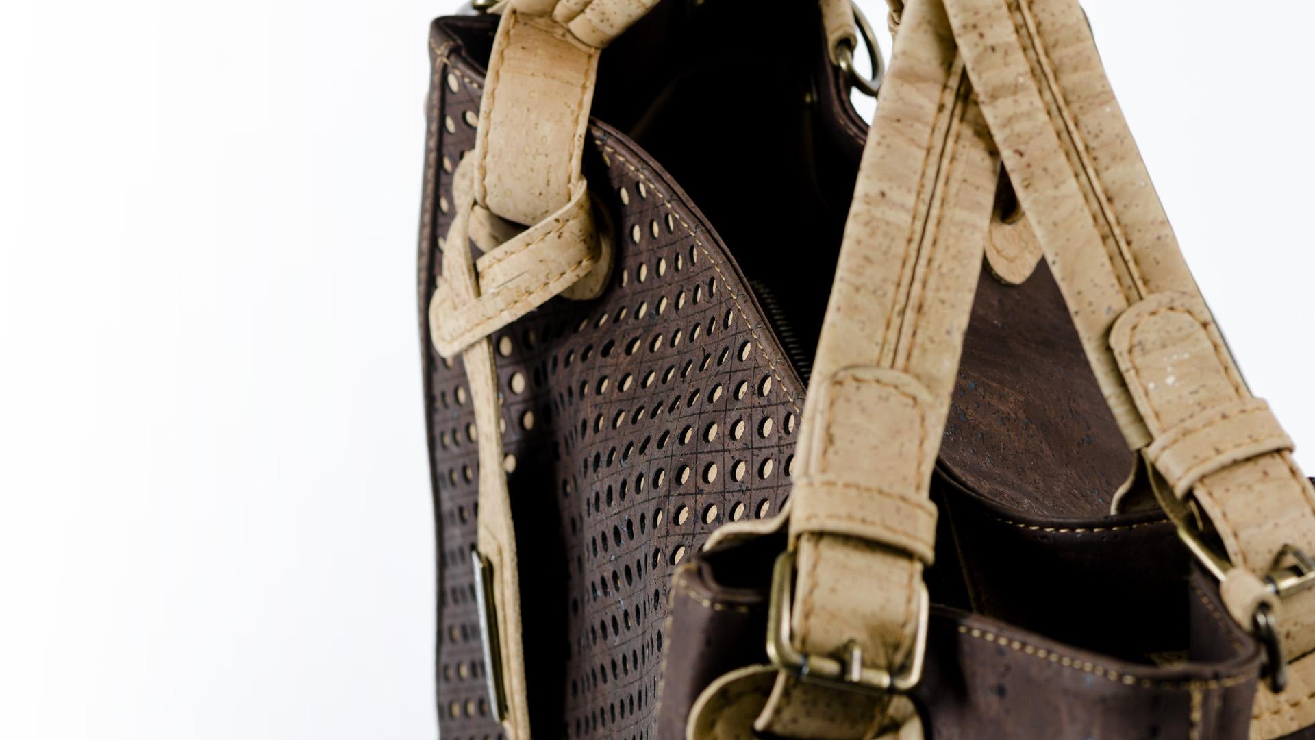 Korktasche, Kork Tasche City Bag, Brown \ Nature Cork, zoom, editorial