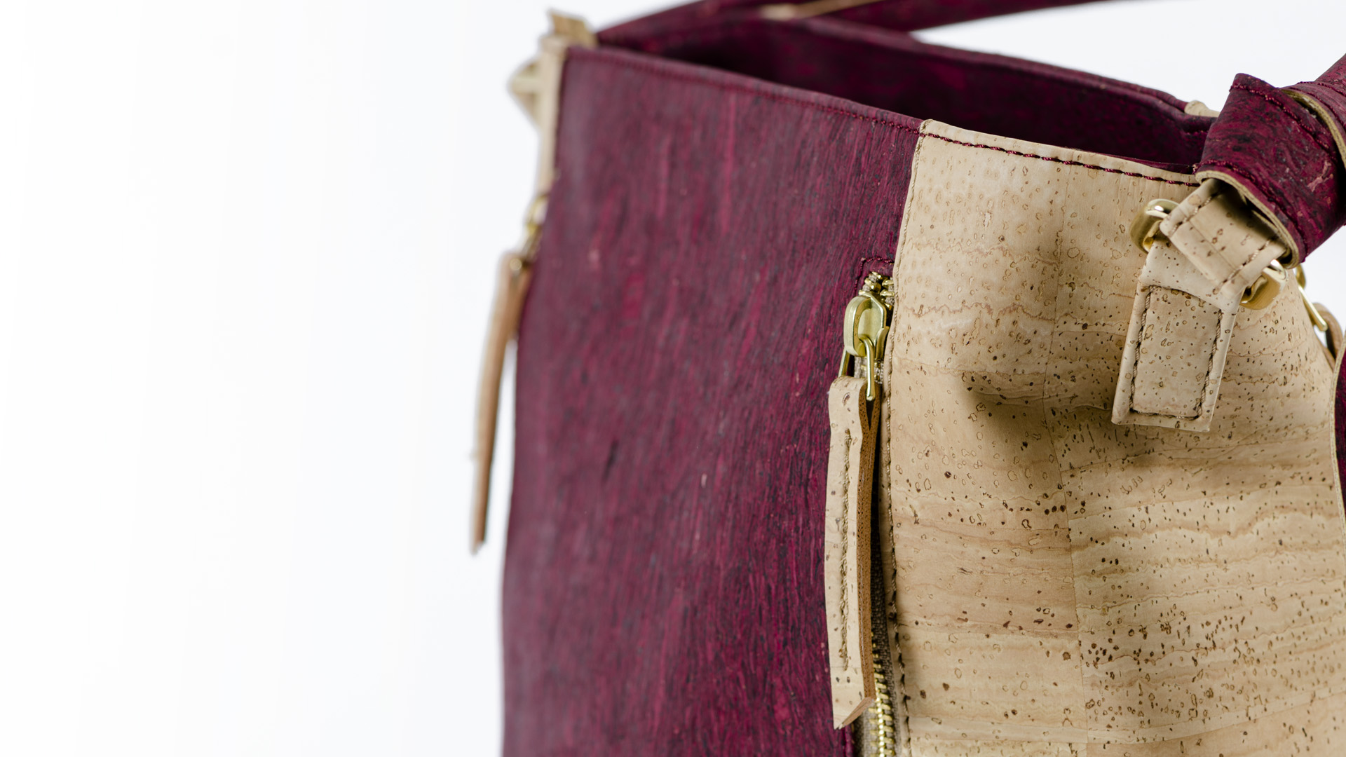 Korktasche, Kork Tasche Zipper, Red Wine \ Nature Cork, editorial