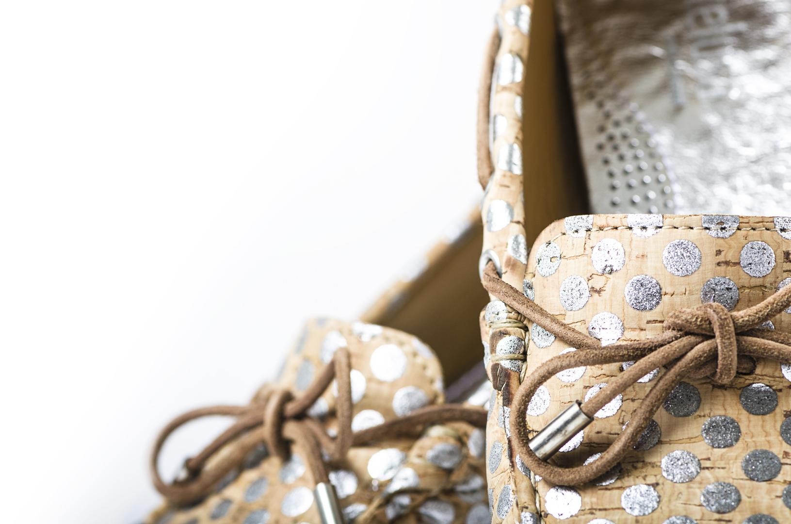 Schuhe, Kork, Korkschuhe, Espadrillas, Indiana Laced, Nature Cork \ Silver, editorial