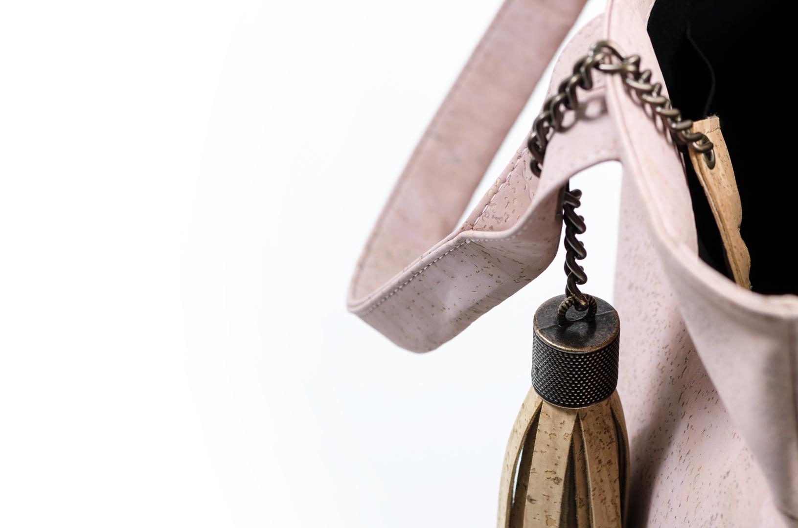 Korktasche, Kork Tasche Tassel, Nature Cork \ Dusty Pink, editorial