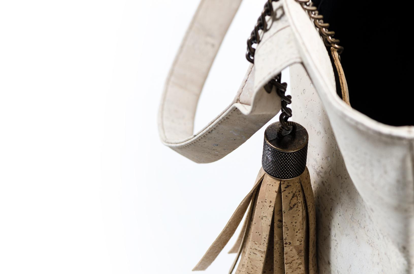 Korktasche, Kork Tasche Tassel, White \ Nature Cork, editorial