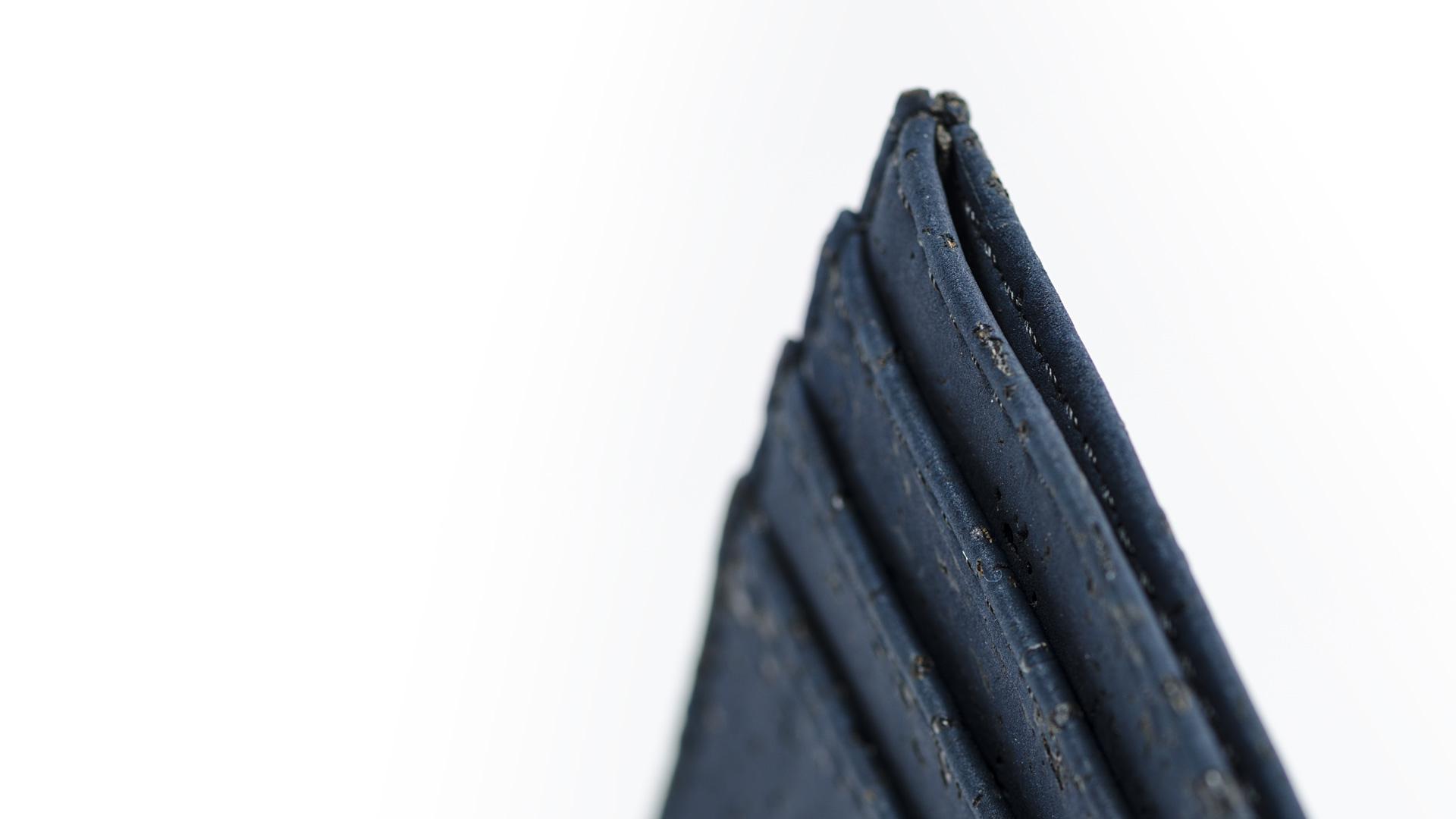 Korkportemonnaie, Kork Portemonnaie Card Holder,Navy Blue, editorial