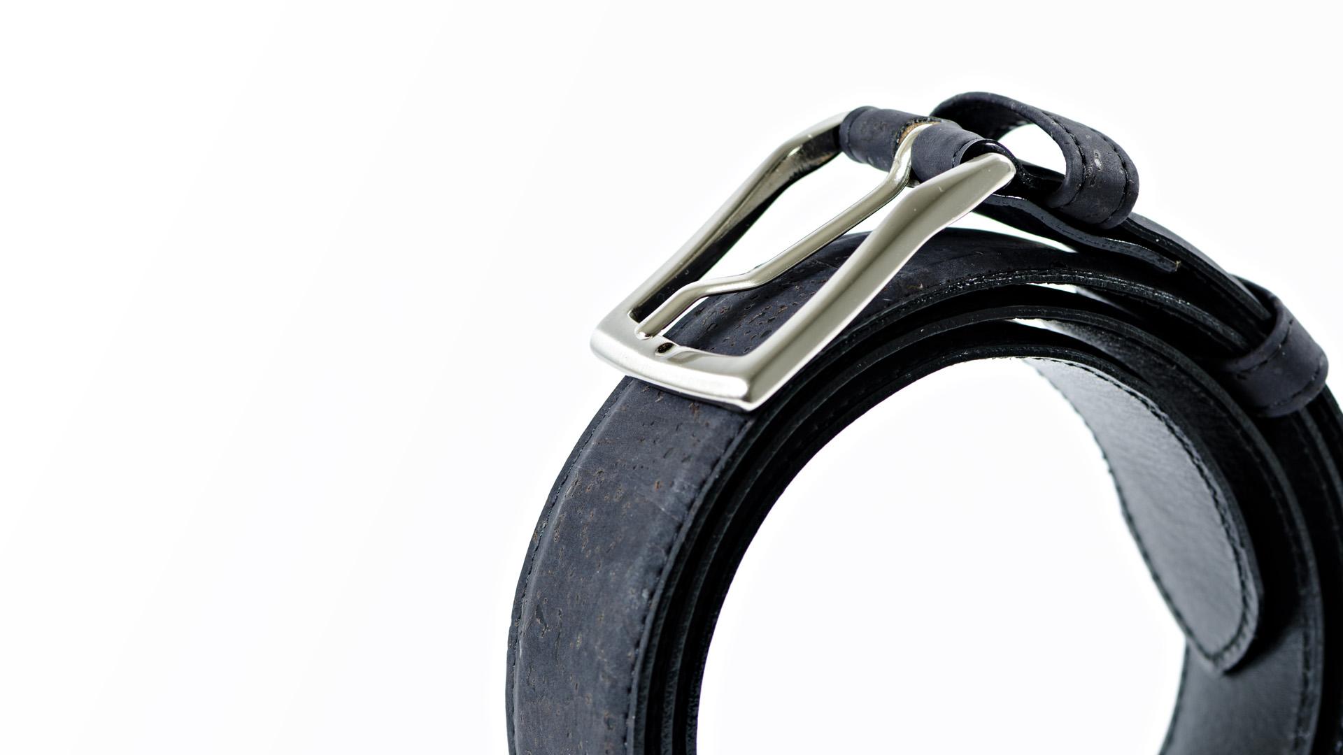 Korkgürtel, Kork Gürtel Drift 35mm, Black, editorial