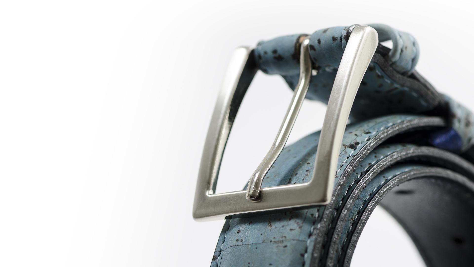 Korkgürtel, Kork Gürtel Drift 30mm, Blue, editorial