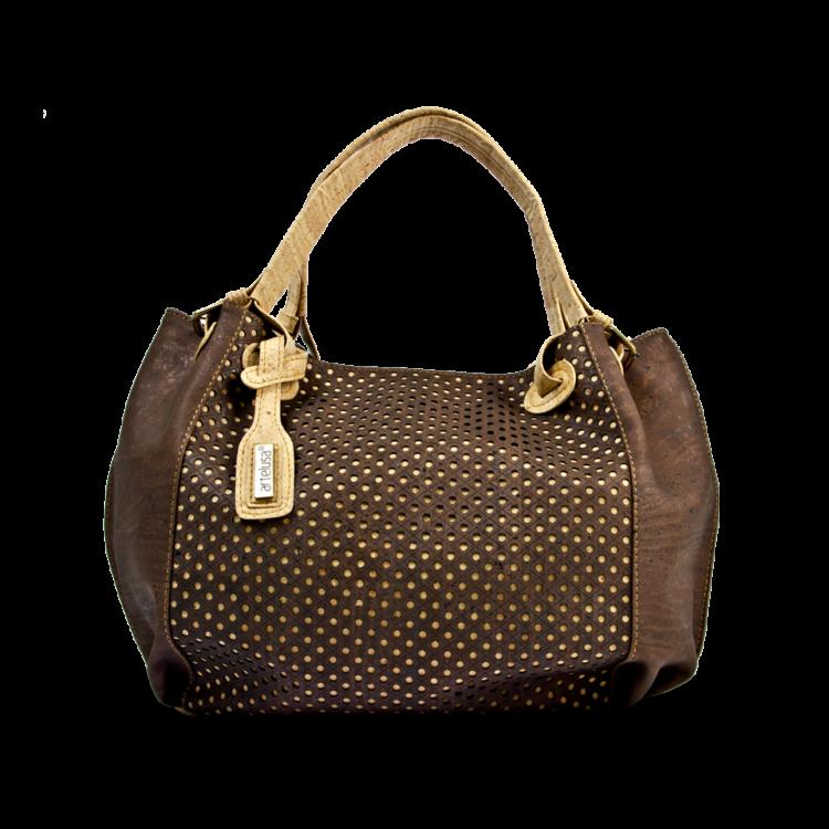 Korktasche, Kork Tasche City Bag, Brown \ Nature Cork, front