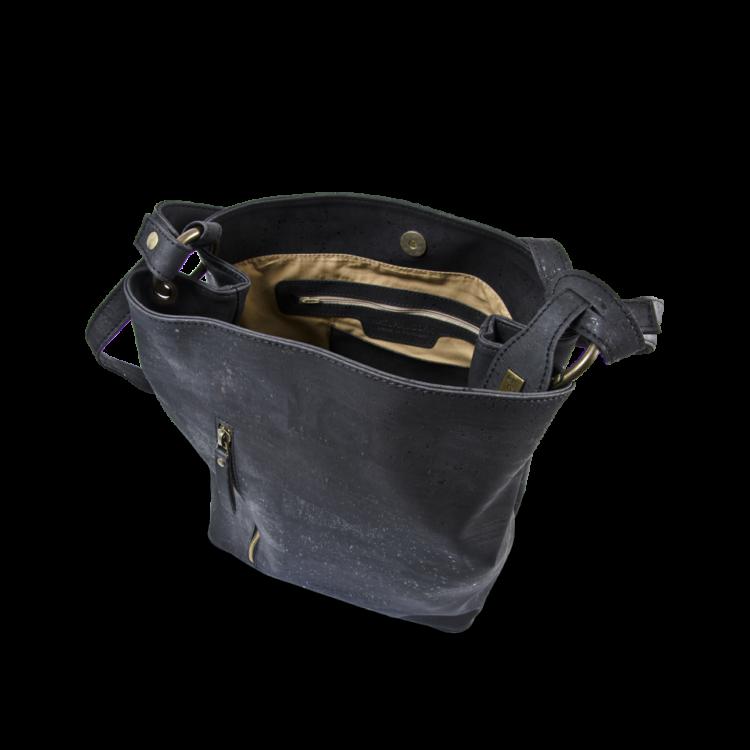 Korktasche, Kork Tasche Companion, Black, open