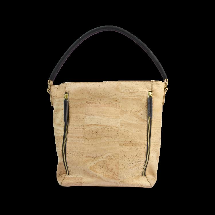 Korktasche, Kork Tasche Zipper, Nature Cork \ Black, front