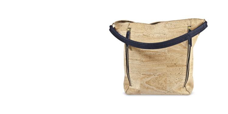 Korktasche, Kork Tasche Zipper, Nature Cork \ Black, teaser
