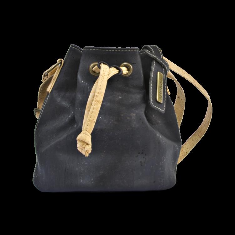 Korktasche, Kork Tasche Mini Bag, Black, front