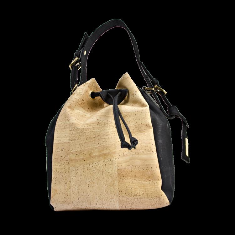 Korktasche, Kork Tasche Chester, Nature Cork \ Black, front