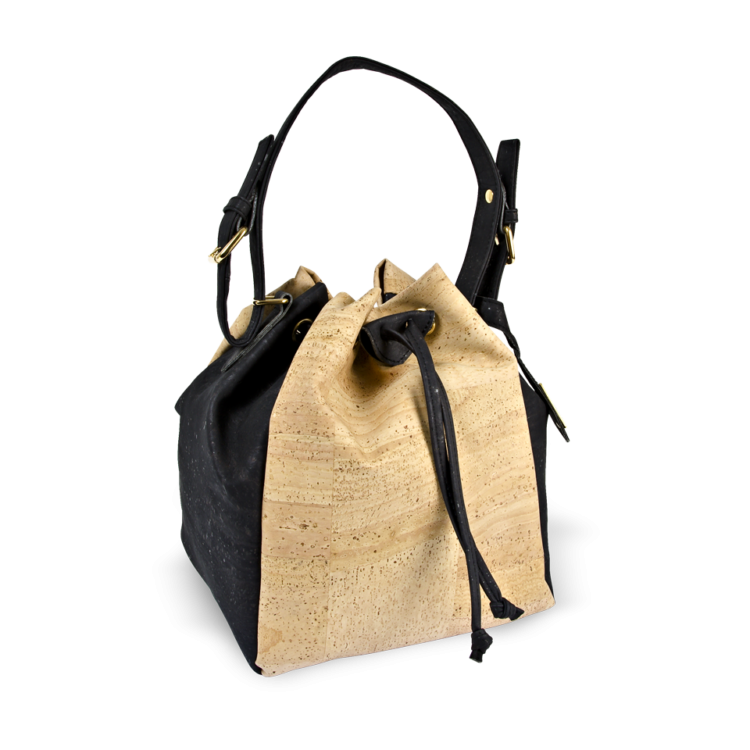 Korktasche, Kork Tasche Chester, Nature Cork \ Black, side