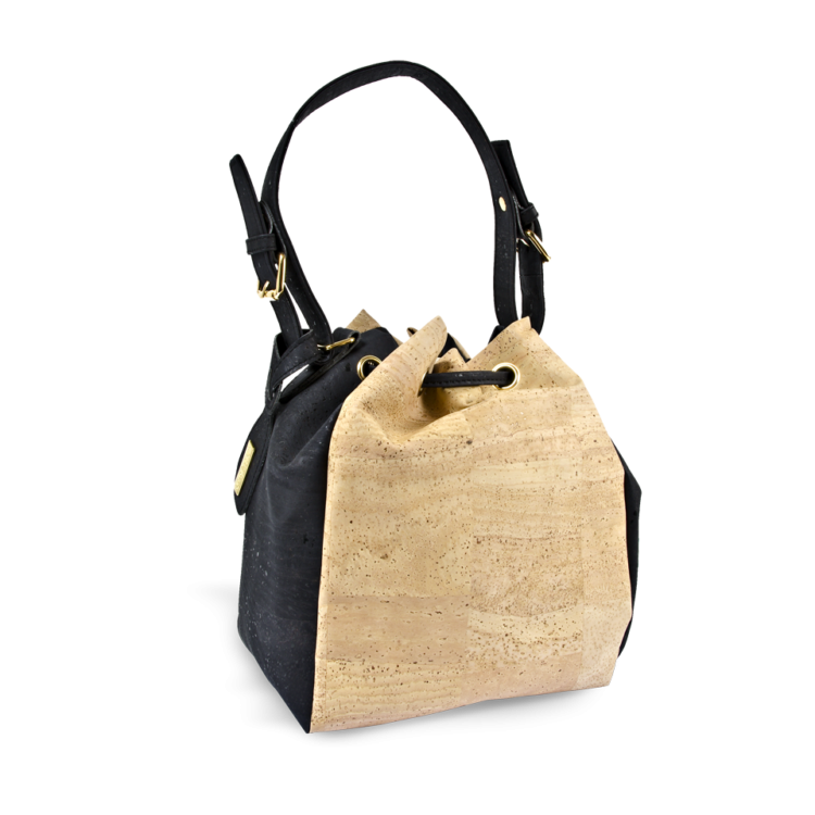 Korktasche, Kork Tasche Chester, Nature Cork \ Black, back