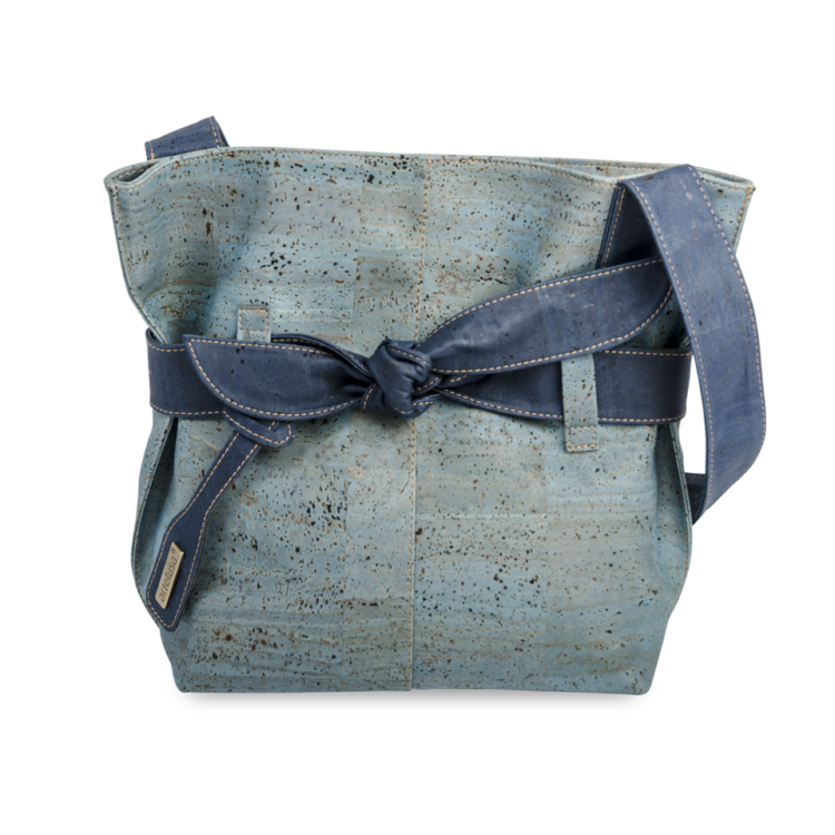 Korktasche, Kork Tasche Looper, Blue Dark \ Blue, front