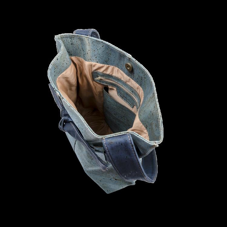 Korktasche, Kork Tasche Looper, Blue Dark \ Blue, open