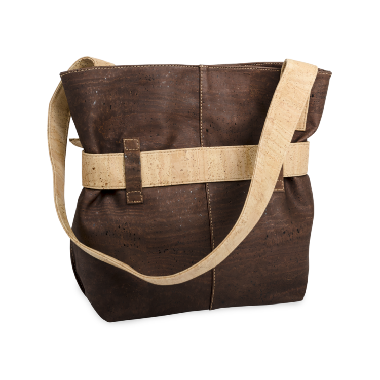 Korktasche, Kork Tasche Looper, Brown \ Nature Cork, back