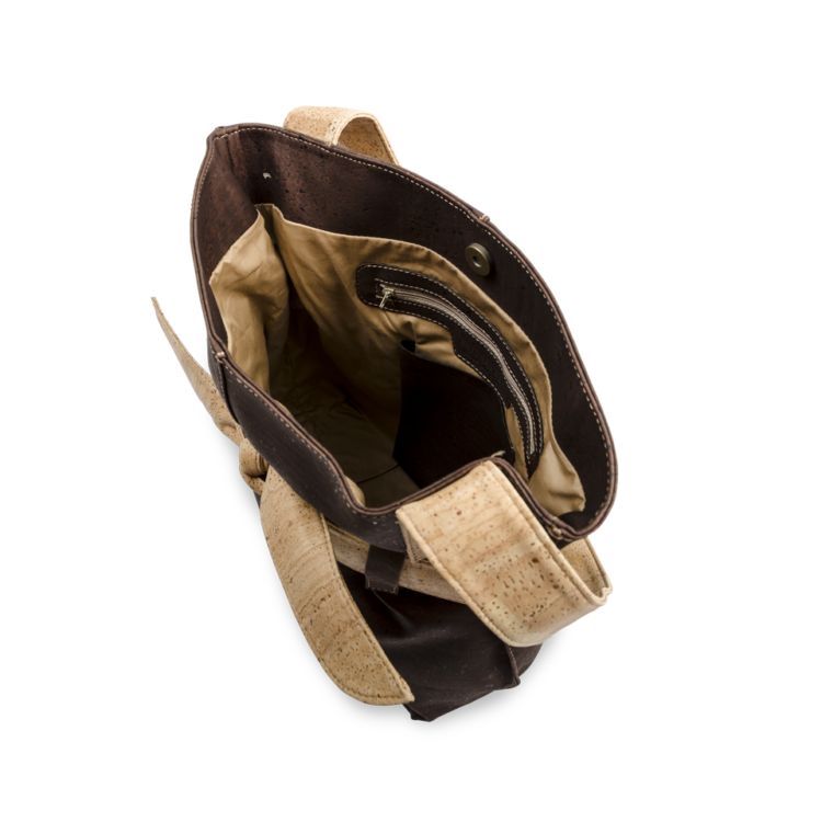Korktasche, Kork Tasche Looper, Brown \ Nature Cork, open