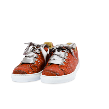 Schuhe, Sneaker Low, Red \ Silver, teaser