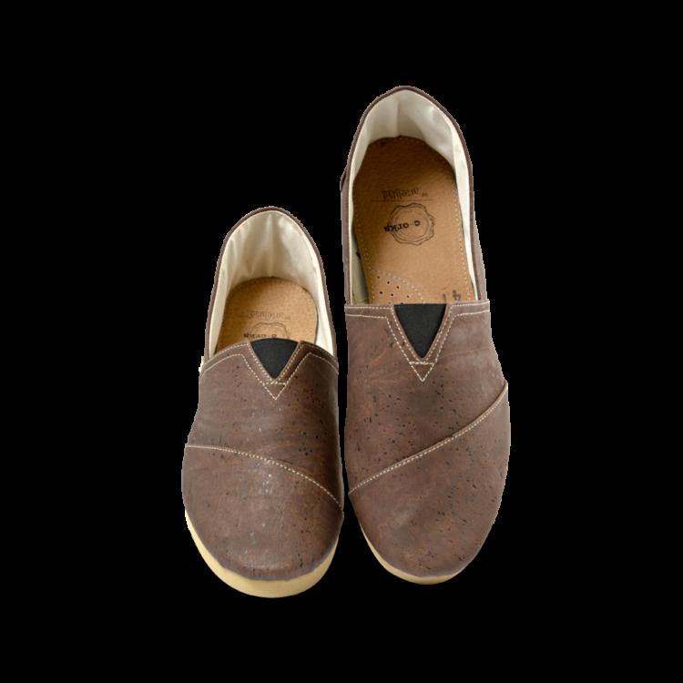 Schuhe, Kork, Korkschuhe, Espadrillas, Brown \ Beige, front