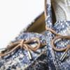 Schuhe, Kork, Korkschuhe, Espadrillas, Indiana Laced, Blue \ Beige, editorial