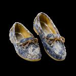 Schuhe, Kork, Korkschuhe, Espadrillas, Indiana Laced, Blue \ Beige, plan view