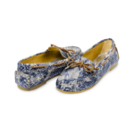 Schuhe, Kork, Korkschuhe, Espadrillas, Indiana Laced, Blue \ Beige, back and front side