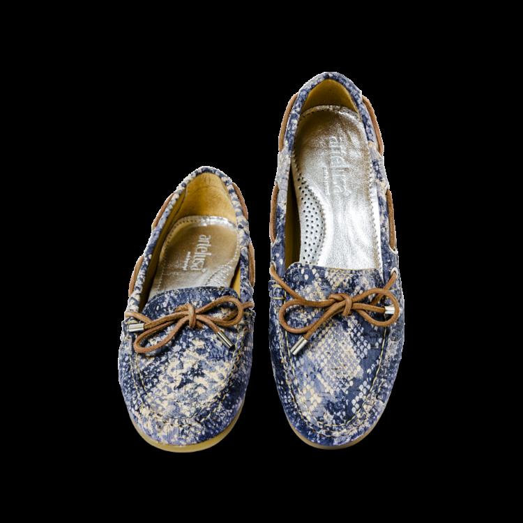 Schuhe, Kork, Korkschuhe, Espadrillas, Indiana Laced, Blue \ Beige, front