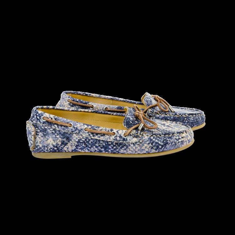 Schuhe, Kork, Korkschuhe, Espadrillas, Indiana Laced, Blue \ Beige, side