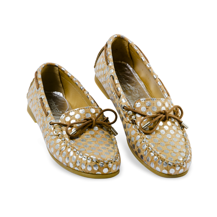 Schuhe, Kork, Korkschuhe, Espadrillas, Indiana Laced, Nature Cork \ Silver, side