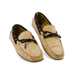 Schuhe, Kork, Korkschuhe, Espadrillas, Seaman Laced, Nature Cork \ Brown, plan view