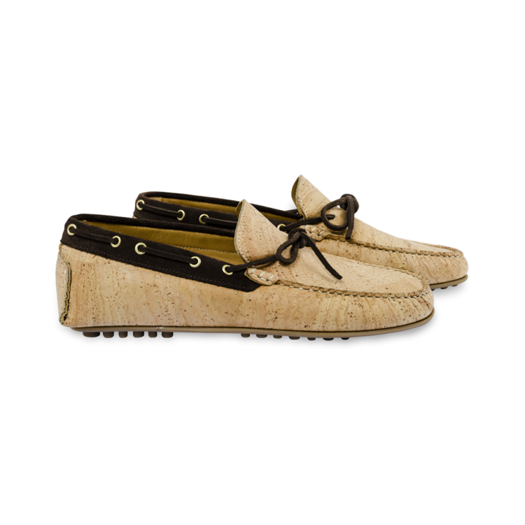 Schuhe, Kork, Korkschuhe, Espadrillas, Seaman Laced, Nature Cork \ Brown, side