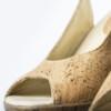Schuhe, Kork, Korkschuhe Absatz, Wedges, Nature Cork, editorial