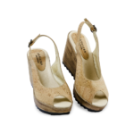 Schuhe, Kork, Korkschuhe Absatz, Wedges, Nature Cork, front