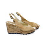 Schuhe, Kork, Korkschuhe Absatz, Wedges, Nature Cork, side