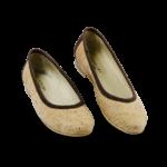 Schuhe, Kork, Korkschuhe Ballerinas, Nature Cork \ Brown, front