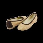 Schuhe, Kork, Korkschuhe Ballerinas, Nature Cork \ Brown, front and back side