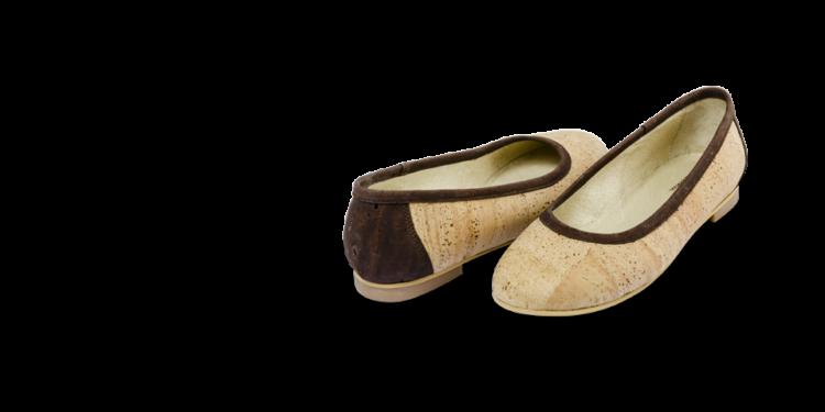 Schuhe, Kork, Korkschuhe Ballerinas, Nature Cork \ Brown, teaser