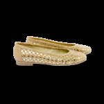 Schuhe, Kork, Korkschuhe Ballerinas, Nature Cork \ Gold, side