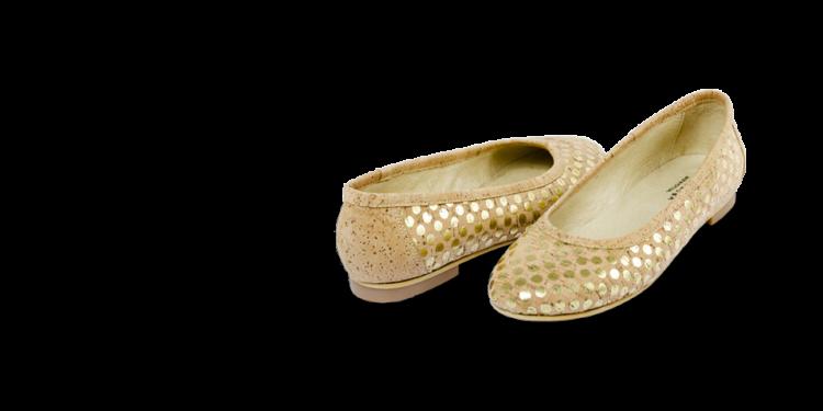Schuhe, Kork, Korkschuhe Ballerinas, Nature Cork \ Gold, teaser