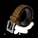 Korkgürtel, Kork Gürtel Stroke 35mm, Brown, side