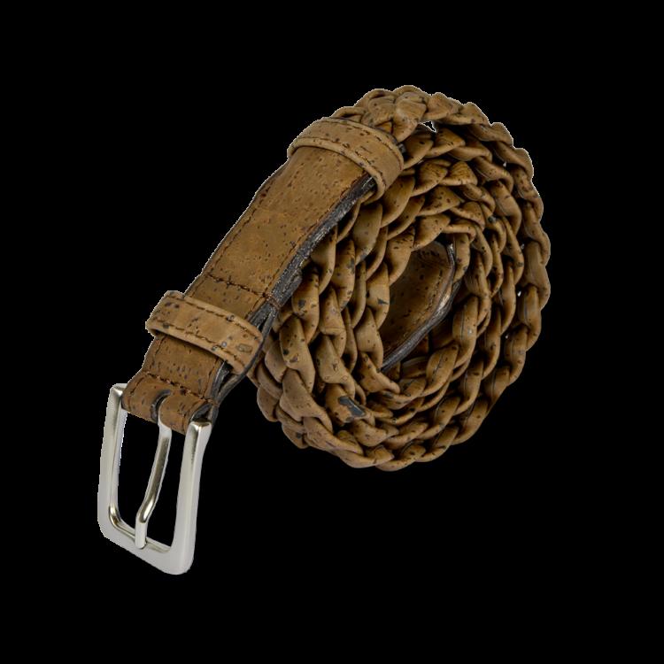 Korkgürtel, Kork Gürtel Brady 30mm, Brown, side and front