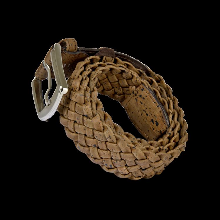 Korkgürtel, Kork Gürtel Brady 40mm, Brown, side
