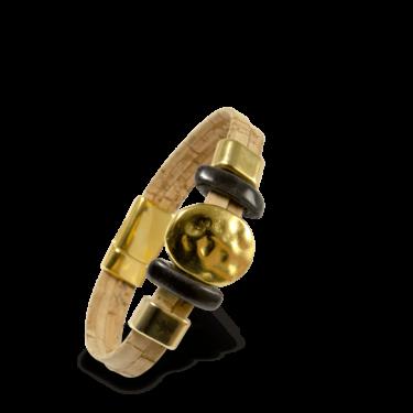 Korkarmband, Kork Armband Golden Sun, Nature Cork \ Gold, teaser