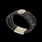 Korkarmband, Kork Armband Silver Moon, Black \ Silver, side view