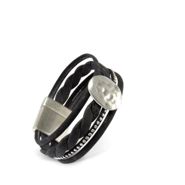 Korkarmband, Kork Armband Silver Moon, Black \ Silver, teaser