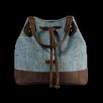 Korktasche, Kork Tasche Lacer, Blue \ Brown, front
