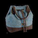 Korktasche, Kork Tasche Lacer, Blue \ Brown, side