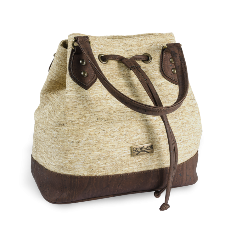 Korktasche, Kork Tasche Lacer, Straw Nature \ Brown, side