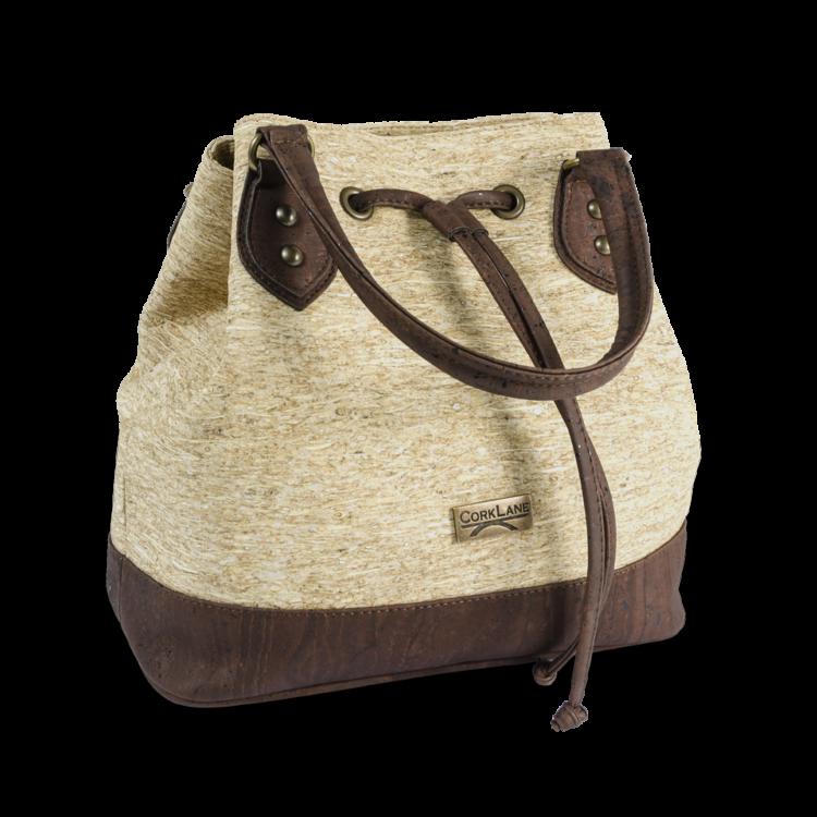 Korktasche, Kork Tasche Lacer, Straw Nature \ Brown, side
