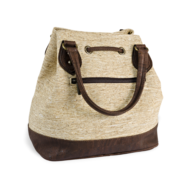 Korktasche, Kork Tasche Lacer, Straw Nature \ Brown, back